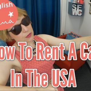 How to Rent a Car in the USA – English for vacation