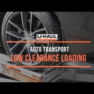 Auto Transport: Low Clearance Loading